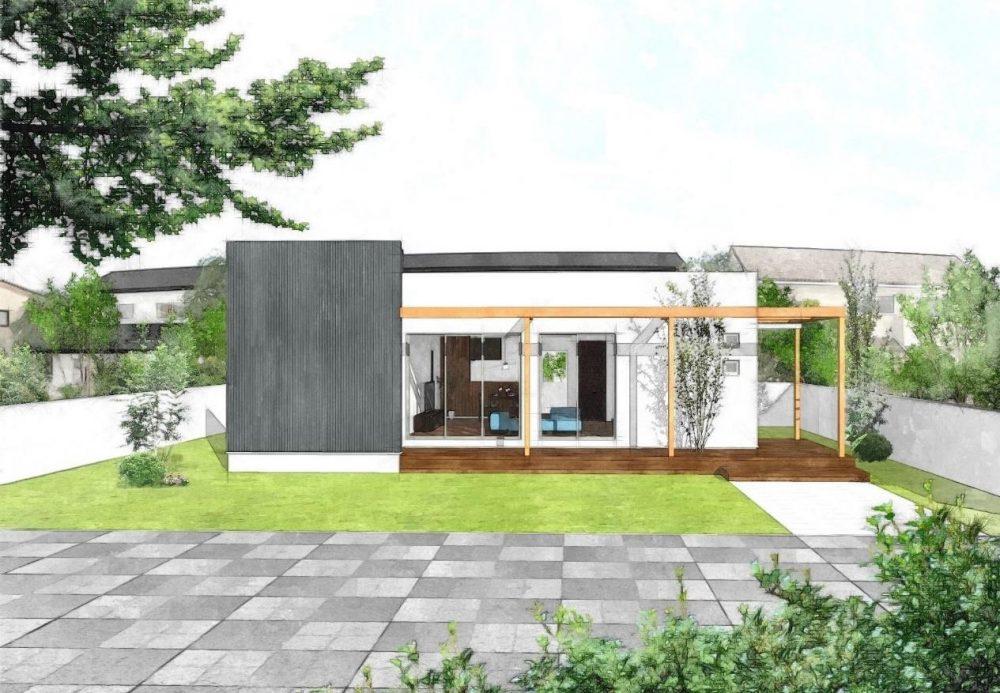 庭とつながるスローライフの家